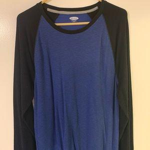 Men's Old Navy Long Sleeve Shirt Two Tone XL